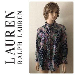 New Lauren Ralph Lauren Non-Iron Multicolor Shirt